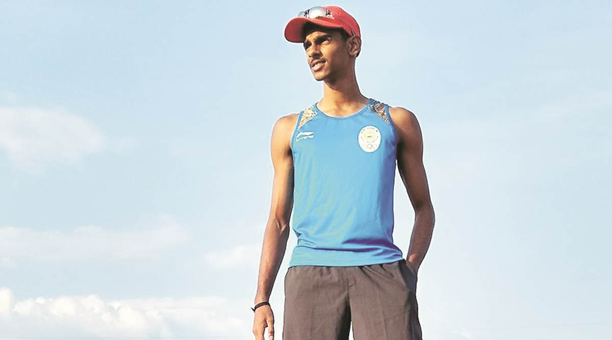 Long jumper Sreeshankar participated in the 3rd leg of the Indian Grand Prix, winning gold with 7.74 metres.