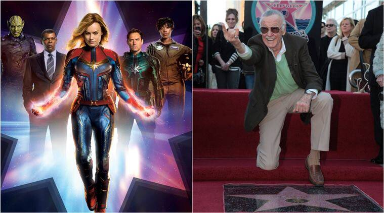 Captain marvel, Stan Lee, brie larson, captain marvel stan lee, stan lee cameos, captain marvel stan lee cameo, marvel studio stan lee tribute, stan lee marvel logo, entertainment news, indian express, viral news