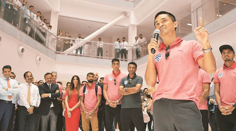 Sunil Chhetri, Sunil Chhetri football, India football team, Bengaluru FC, Indian Super League, FC Goa, fotball news, indian express