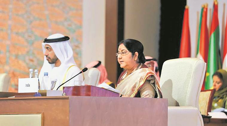 Advaniji our father figure, maintain decorum in speech, Sushma Swaraj tells Rahul Gandhi