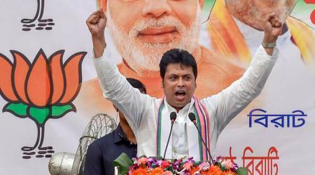 Tripura, Biplab Deb, Bharatiya Janata Party, Union Home Minister Amit Shah, BJP Tripura, BJP in Nepal, BJP in Sri Lanka, BJP expansion, northeast news, indian express