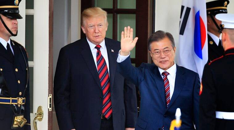 moon jae-in, donald trump, south korea, japan, united states, wto, un sanctions, world war II, tokyo, world news, indian express