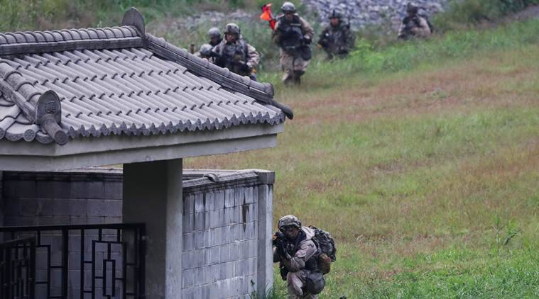 Soldiers give way to computers after Trump slashes Korea drills