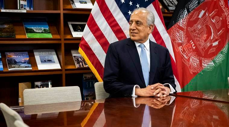 Zalmay Khalilzad, chief American envoy, at the United States Embassy