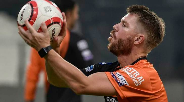 IPL 2019, KKR vs SRH Live Cricket Streaming: Sunrisers Hyderabad player David Warner during a practice session. (PTI/File Photo)