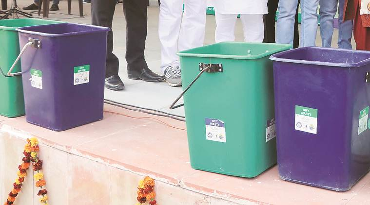 Pune, pune news, Pune civic issues, pune municipality, Pimpri-Chinchwad Municipal Corporation, waste segregation, two dustbins, dry waste wet waste, indian express