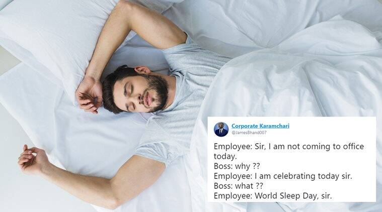 world sleep day, sleep day, sleep day jokes, sleep day memes,, funny news, funny tweets on sleep, funny news, indian express