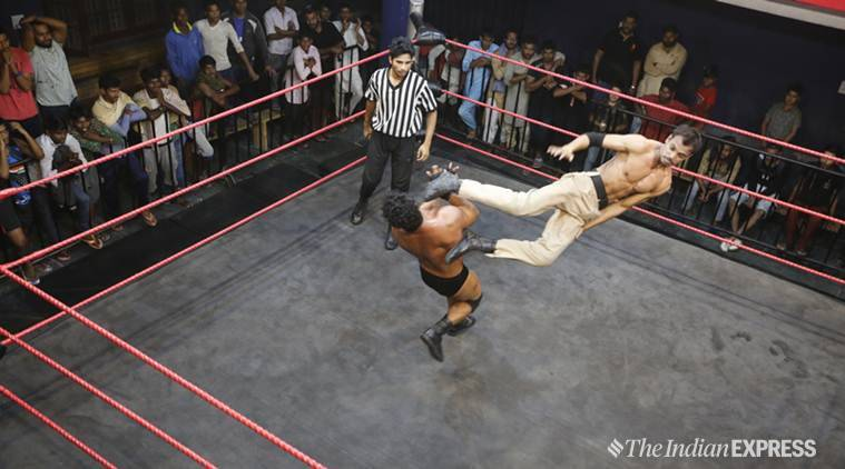 pro wrestling, Khali, Dalip Singh Rana, WWE, professional wrestling, Khali wrestling matches, India, Pakistan, pro wrestling in India, pro wrestling champion, Dangal, India news, Big Picture, Indian Express