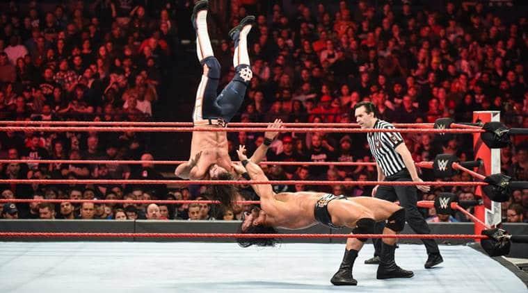 Drew McIntyre and Seth Rollins on WWE Raw