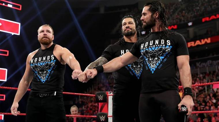 Roman Reigns, Seth Rollins and Dean Ambrose on WWE Raw