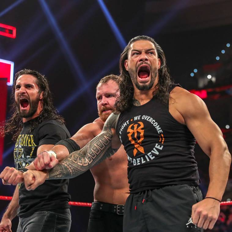 Seth Rollins, Dean Ambrose and Roman Reigns on WWE Raw