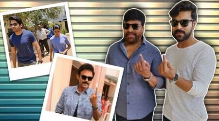 South Indian actors cast their votes