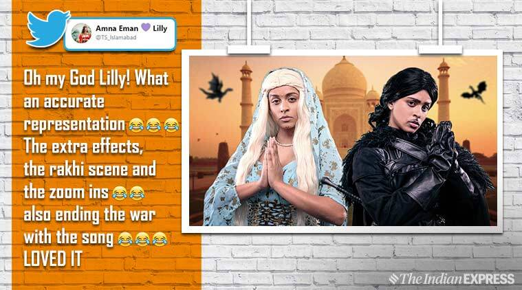 game of thrones, lilly singh, superwoman game of thrones, game of thrones indian spoof, got indian edition, GOT lilly singh video, viral video, funny video, indian express