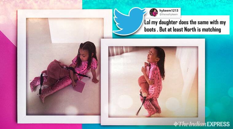 Kim Kardashia, north west, Kim Kardashian daughter memes, Kim Kardashian daughter tantrum, Kim Kardashian funny tweets, indian express, viral memes, funny news,
