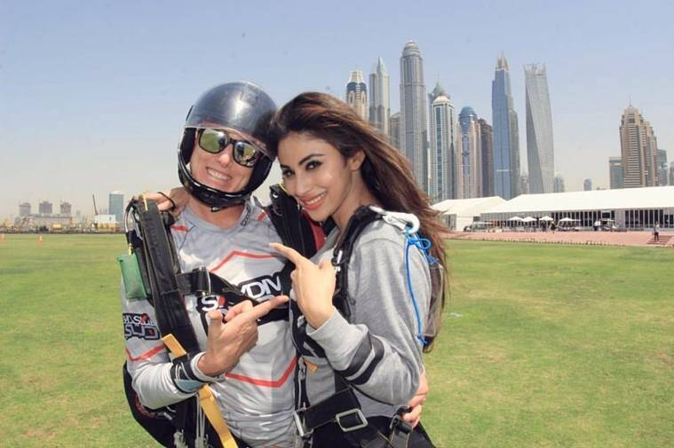 mouni roy in dubai