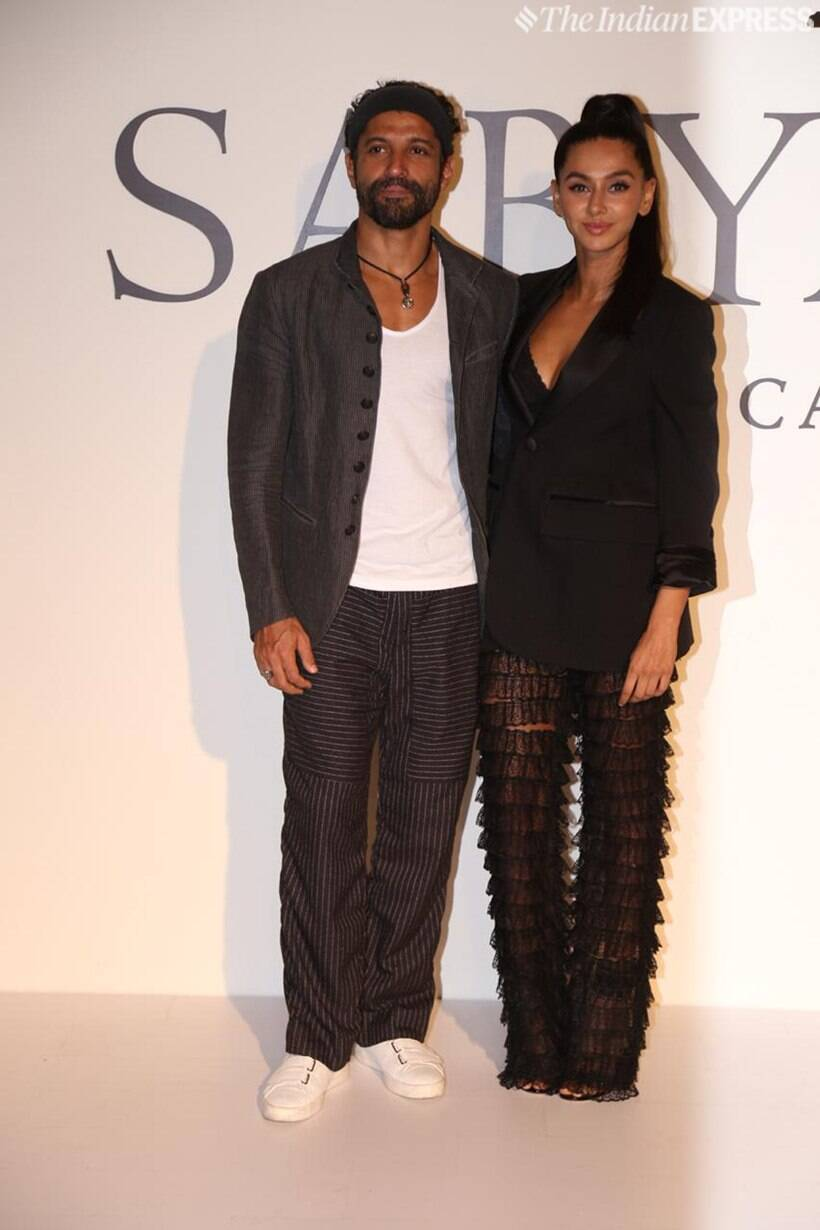 farhan akhtar and shibani dandekar at sabyasachi 20 years celebration