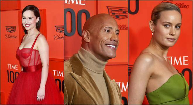 Emilia Clarke, Dwayne Johnson, Brie Larson and others attend TIME 100 Gala