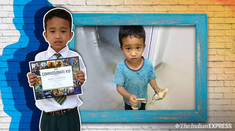mizoram boy, viral mizo boy with chick, boy accidentally run over chicken, mizo boy peta award, peta india, peta india compassionate kid award, viral news, good news, indian express