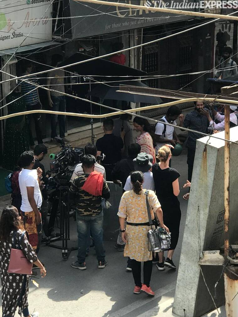 Deepika Padukone shoots for Chhapaak in Delhi