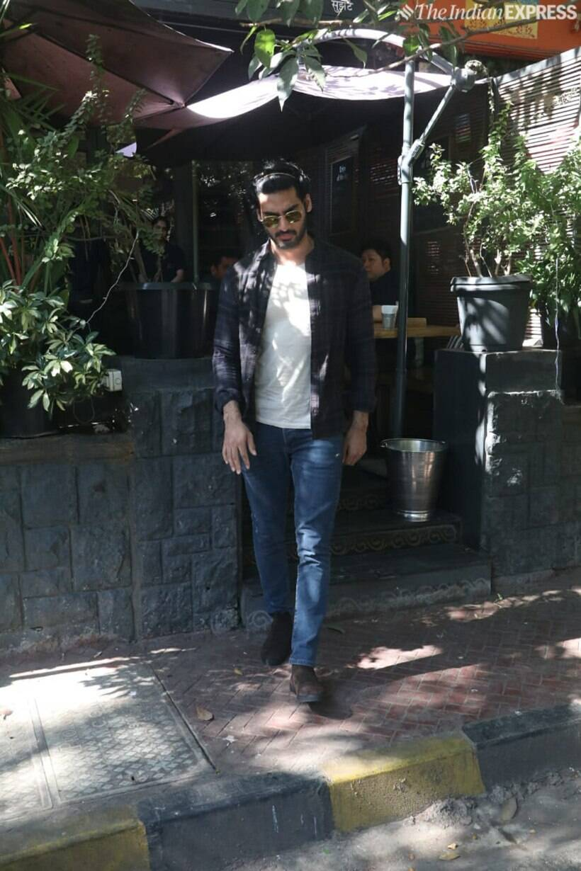 Ahan Shetty spotted in Mumbai