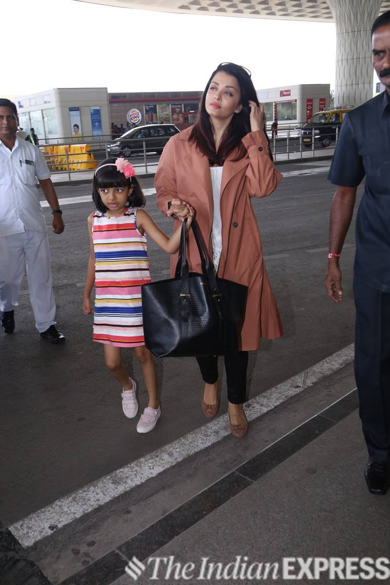 aishwarya rai bachchan, airport, airport look, celeb fashion, Bollywood, indian express