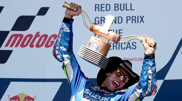 Alex Rins wins MotoGP in Texas after Marc Marquez crash