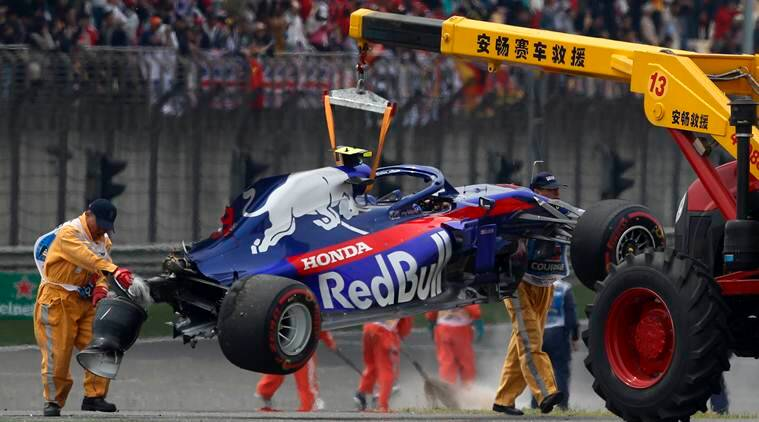 Chinese Grand Prix: Alexander Albon survives stunning crash in practice