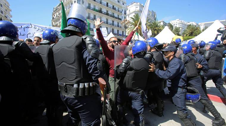 Algeria, Algeria protest, Algeria news, Abdelaziz Bouteflika, Bouteflika Algeria, protest in Algeria, Algeria elections, Indian Express, latest news