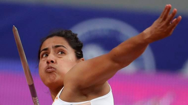 Annu Rani of India competes in her Javelin throw final during the 23rd Asian Athletics Championships in Doha, Qatar