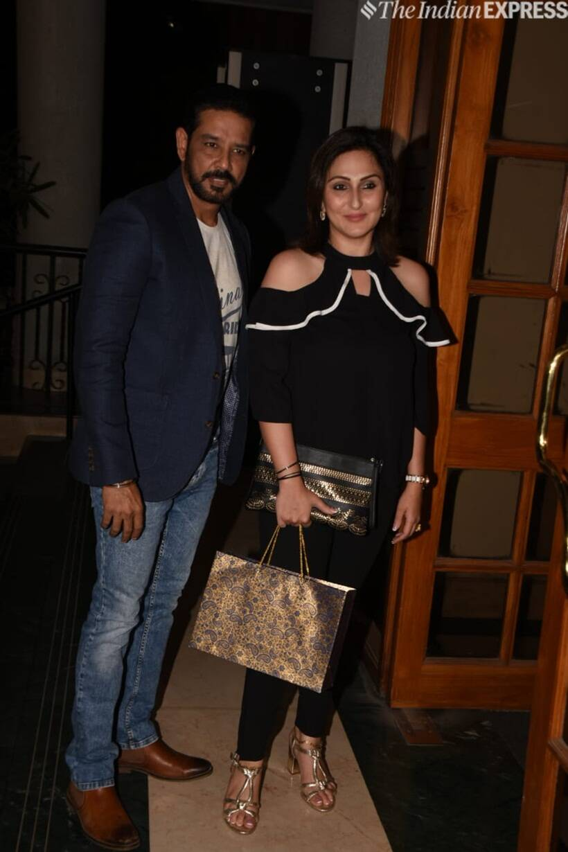 anup soni and his wife at Manoj Bajpayee birthday