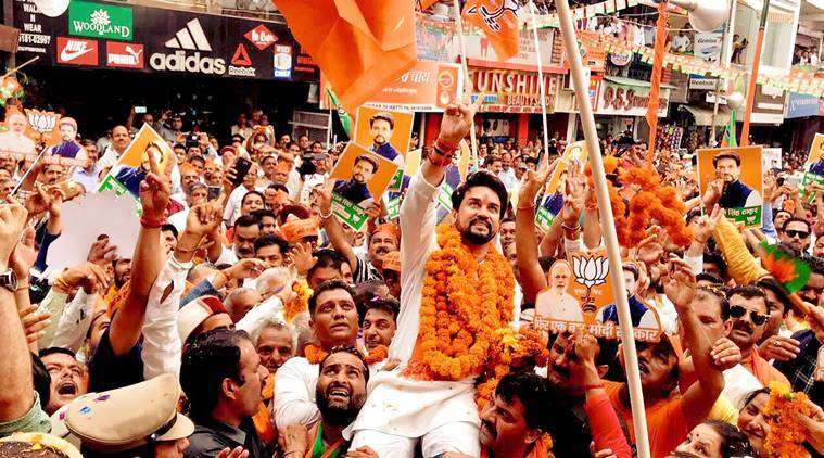 Bjp's Anurag Thakur Files Nomination, Declares Assets Worth Rs 5 Crore