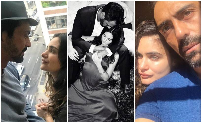 Image result for Arjun Rampal and gabriel with baby boy