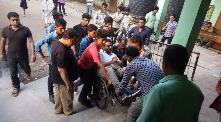 Disabled activist carried to first-floor polling booth by '5-6 men', says accessible polls a sham