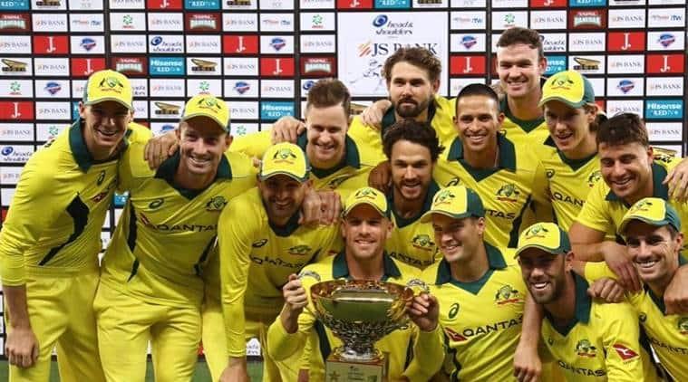 Australian cricket team after beating Pakistan