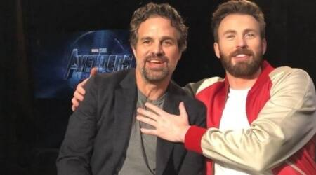 Mark Ruffalo and Chris Evans in Avengers Endgame