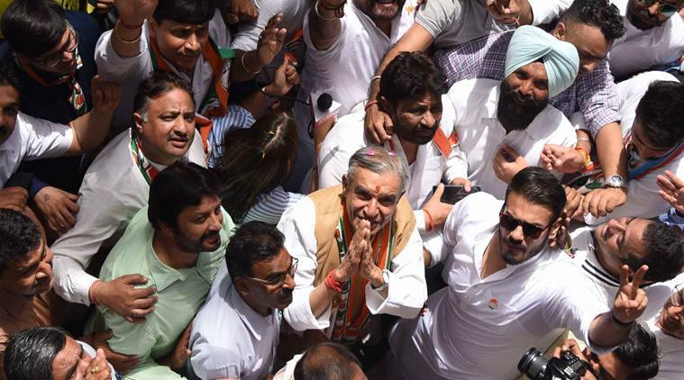 Bansal files nomination, says no Modi wave in Chandigarh, makes a pitch for development