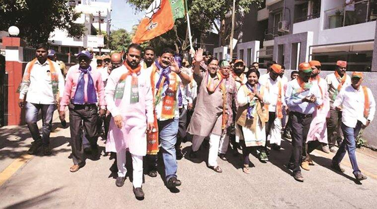 On campaign trail BJP candidate Girish Bapat: 'Trust people of my city, confident that they know who to choose'