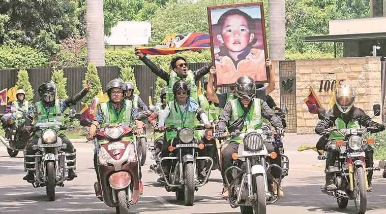 Bikers' rally from Mcleodganj to New Delhi to mark 30th birthday of abducted Panchen Lama
