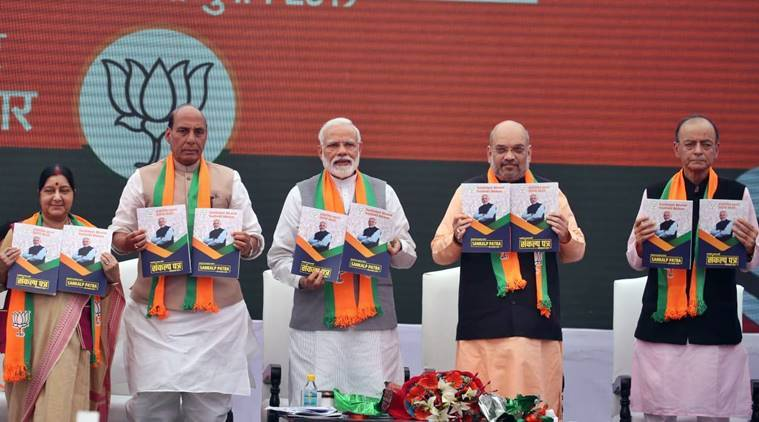 pm modi, pm modi BJP manifesto, bjp manifesto 2019, bjp manifesto, Narendra Modi BJP manifesto, manifesto BJP, BJP manifesto promises, BJP manifesto election, election manifest bjp, BJP news, amit shah manifesto, narendra modi, article 370, Indian express news, lok sabha election news