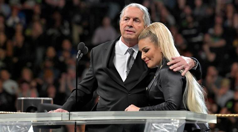 Watch Wwe Legend Bret The Hitman Hart Attacked At Hall Of Fame Ceremony Before Wrestlemania Sports News The Indian Express