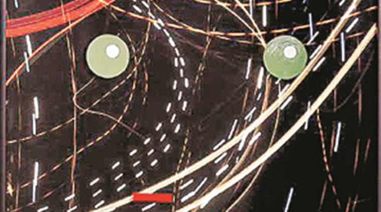 artist, adtiya pandey, art works, delhi, mythology, archaeology, mixed media, exhibition, museum, traffic lights, canvas, painting, drawings, indian express news