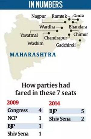 Vidarbha votes today: All won by NDA in 2014, contest won't be so one-sided this time