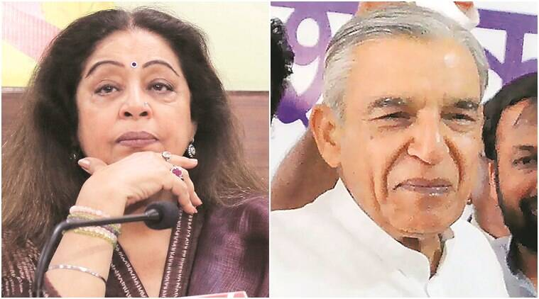 lok sabha elections, lok sabha elections 2019, chandigarh elections, elections in chandigarh, kirron kher, pawan kumar bansal, chandigarh metro, metro, election news, indian express news