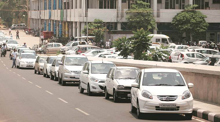 Despite 26 parking lots, Chandigarh streets choked with wrongly parked vehicles