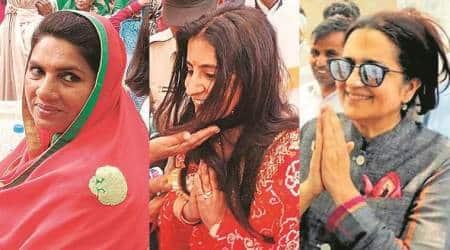 Haryana, Haryana elections, Haryana polls, Naina Chautala, Renuka Bishnoi, Kiran Choudhry, lok sabha elections, general elections, election news, decision 2019, lok sabha elections 2019, indian express