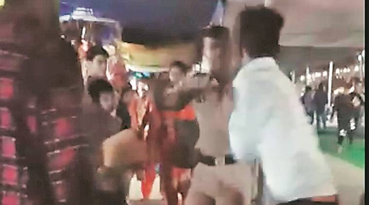 As thrashing video goes viral, police identify SPO at the receiving end