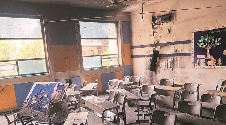 School officials put out fire inside Gurgaon classroom, no injuries