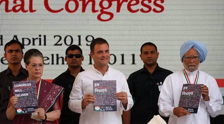 congress manifesto, congress election manifesto, congress, rahul gandhi, NYAY scheme, Congress NYAY scheme, congress on farmers distress, MNREGA, lok sabha elections, election news