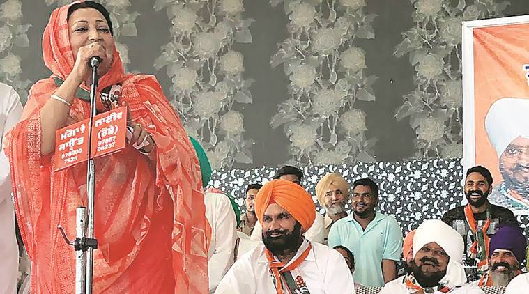 Faridkot Congress candidate's campaign meet: At Moga, a nightingale sings for her brother