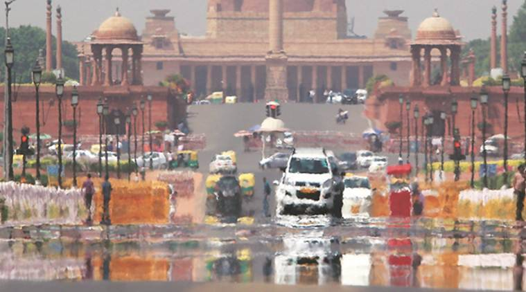 delhi weather, delhi heat wave, delhi temperature, delhi summer, delhi red alert, north india, temperature, heat wave, humidity, delhi news, indian express